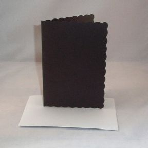 A5 Black Scalloped Greeting Card Blanks With Envelopes